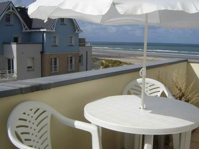 Photo for A BERCK: Beautiful duplex 1-6 persons, direct beach access, sea view terrace