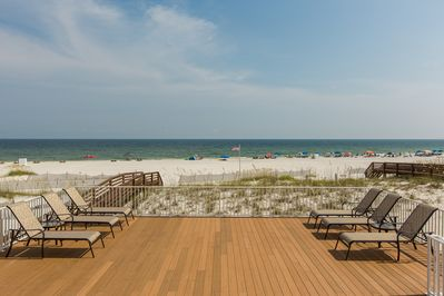 Your own/private expansive terrace with private walkway to beach. PRICELESS!!!