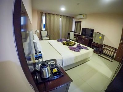 Photo for Deluxe Room balcony Free daily cleaning/wifi/electric