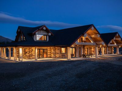 Photo for Hand crafted log home with stunning river views and luxurious interiors