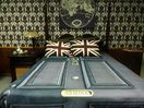 Sherlock Room queen size bed and love seat