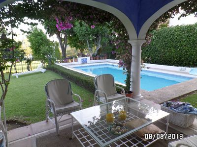 Photo for Detached villa with pool 1st line of Golg