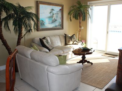 Photo for Free beach set-up!! Stunning Beach Front Condo, 1st Floor Walk in Walk out