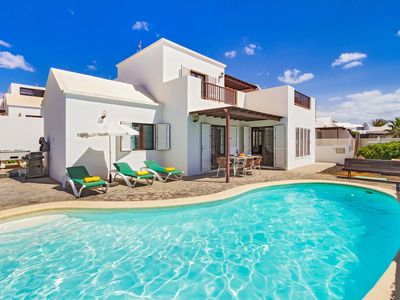 Photo for 4 bedroom Villa, sleeps 8 in Playa Honda with Pool and WiFi