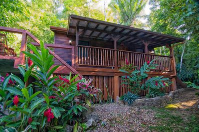Feel at home in our cozy Belize off-grid cabin for rent.