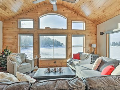 Photo for Spacious Northwoods Family Cabin w/ Lake Views!