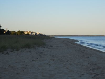 Peaceful evening; 1 min. walk to put your feet in the sand