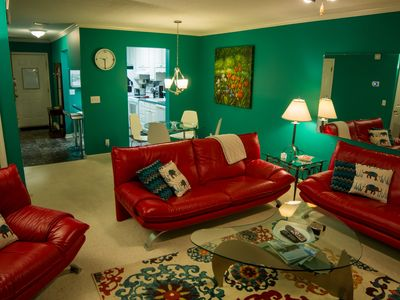Photo for Colorful Condo with Pool - Near Village, Beach and Golf Course