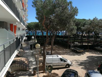 Photo for Apartment 1st line of the sea with communal pool and 2 places underground parking