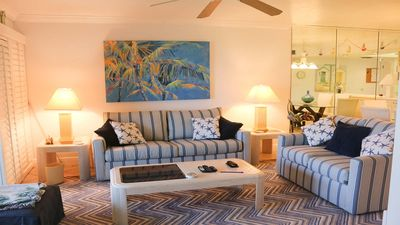 Photo for Sandpiper Beach #102  Beachfront, walk-up condo, pool and tennis, sleeps 6