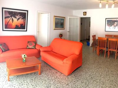 """Photo for Apartment a short walk away (117 m) from the """"Platja La Punta"""" in Roses with Lift, Balcony, Washing machine (726782)"""