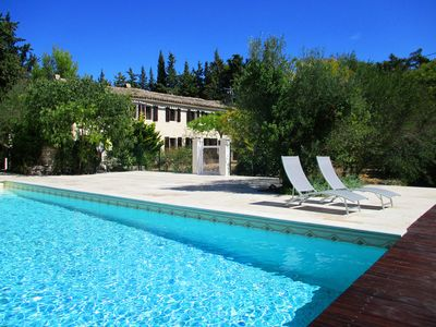 Photo for 100% quiet in Uzès! Swimming-pool 12X8, 100m²+private terrace, big garden, WIFI