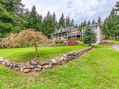 Photo for Spacious & secluded home w/ game room, deck, 2 kitchens, & great Gorge views!