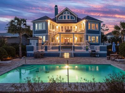 Direct Oceanfront Home with Largest Oceanfront Pool Walk to Coligny