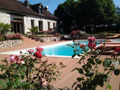 Photo for BEAUTIFUL STONE FARMHOUSE WITH HEATED POOL IN PEACE