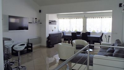 Photo for VILLA 110m ² 100 meters from the beach, all comfort (Clim, WIFI, ...)
