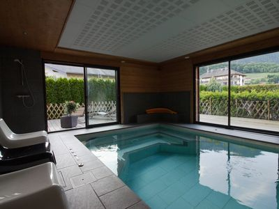 Photo for Charming cottage in cottage, indoor swimming pool sauna steam room fitness