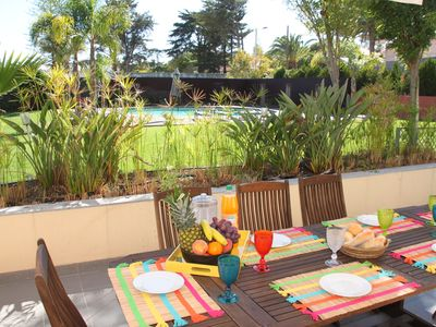 Photo for MODERN AND HIGHLY HOLIDAY APARTMENT FOR 6 PAX, WITH POOL + AIR CONDITIONING
