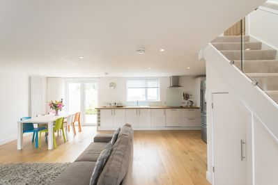 Modern open-plan living. A perfect space to socialise with friends &  family