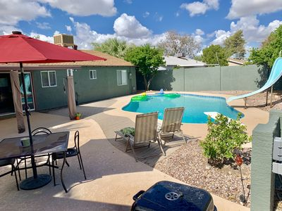 Photo for Entire Luxury 4BR Scottsdale Home- Private Pool, Waterslide,  BBQ, Firepit