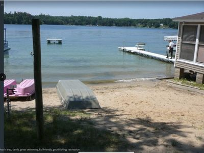 Photo for Crystal clear lake with a  private beach and gorgeous views