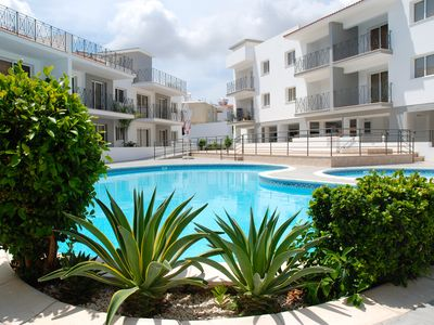 Photo for Crystal - Sea view apartment in Kapparis, Cyprus, 2 pools, close to beach