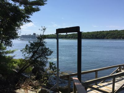 Deep water dock on the Kennebec River