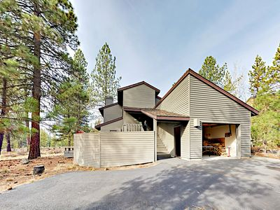 Exterior - Nestled in picturesque Sunriver, this pet-friendly home is a nature lover's dream.