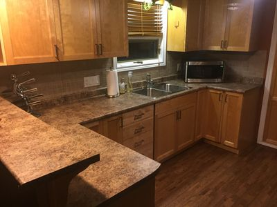 Modern, stainless appliances