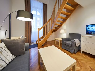 Photo for cozy apartment in the center, yet quiet