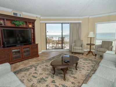 Photo for IR 206 is a very Nice Gulf Front 2 BR with new living rooms furnishings and free Beach Set up for 2