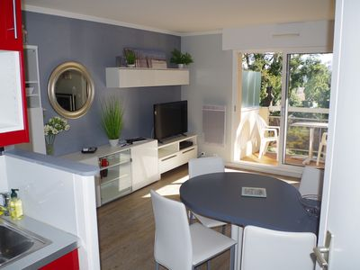 Photo for Charming T2 + garage. Close to beach and shops