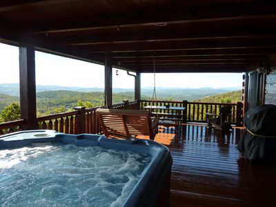 Photo for 'The Great Escape'-Panoramic Views-Hot Tub-WiFi-Pets OK-Private-Booking Fast