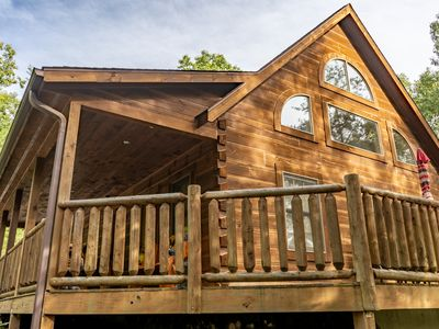 """Photo for APPALACHIAN JOY """" Gorgeous Log Cabin With Privacy but Convenient! Sleeps 6!"""