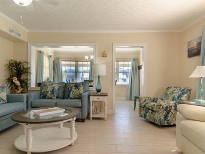 Photo for Completely Updated 1950's Vintage Beach Cottage! 3 Houses from the BEACH!
