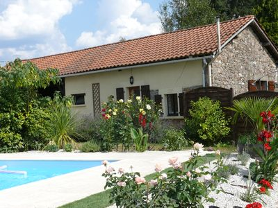Photo for A beautifully, comfortable, tranquil, gite with private pool; sorry no children