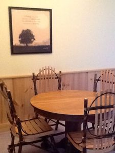 Hickory and oak dining room set