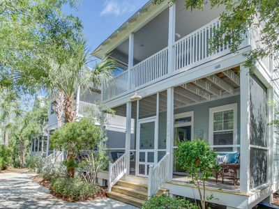 Photo for Charming beachside cottage w/shared hot tub, short walk to sunny beaches!