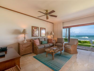 Photo for Kiahuna's Premier Beach Front Beachhouse - 20 Feet to the Beach!