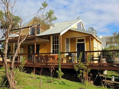 Side view with the back deck