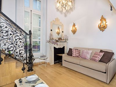 Photo for One Bedroom Apartment on a Quaint Marais Street - Sleeps 4