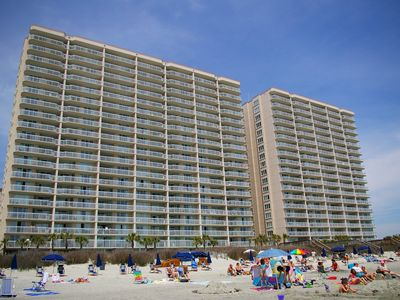 Photo for Luxury Oceanfront Corner Condo*WiFi'*Lazy River*2 pool*2 hot tubs*kiddie pool