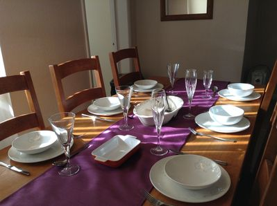 Dining area with seating for family & friends