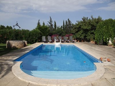 Photo for Escape to the tranquil setting of Ca's Mestret with solar heated pool.