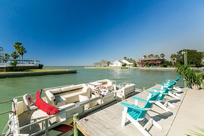 Private dock so you can tie up your boat or fish off the dock in a prime spot.