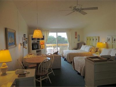 Photo for Unit  #20 - 2nd Floor Deluxe Efficiency,  Private Deck with distant Bay View