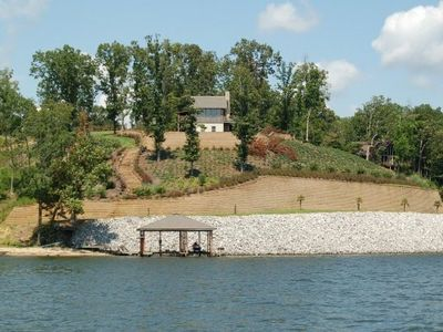 Photo for Waterloo Cabin on Wide Water, Boat Dock, Beach, & Awesome Views!