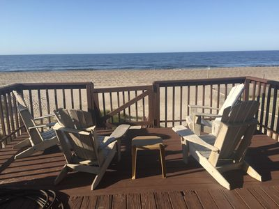 Photo for Ocean Front Cottage Charm Relaxing Porch, Pet Friendly, Wifi