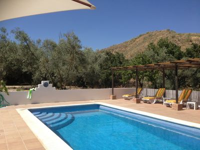 Photo for Six bedroom house in rural location with private pool and spa pool.