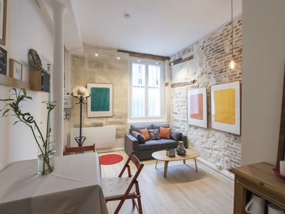 Photo for Apartment full of character and interior brick-walls close to Notre Dame (Veeve)